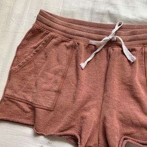 Aerie Cozy Coral Sweatpant Shorts